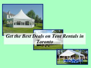Get the best deals on tent rentals in Toronto