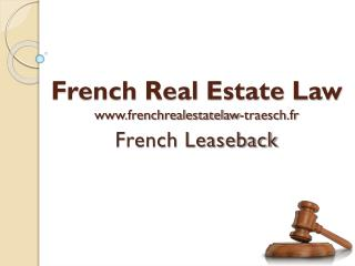 Buying property in French leaseback