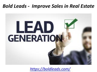 Bold Leads -  Improve Sales in Real Estate