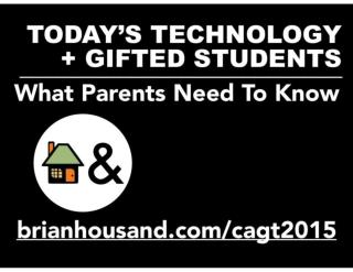 Gifted Kids and Tech What Parents Need To Know 2016
