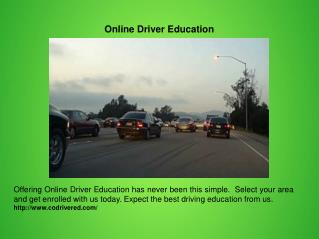 Online Driver Education