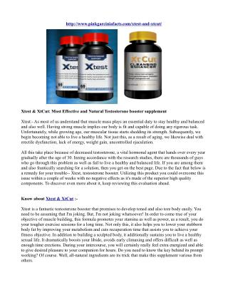 Xtest & XtCut: Most Effective and Natural Testosterone booster supplement