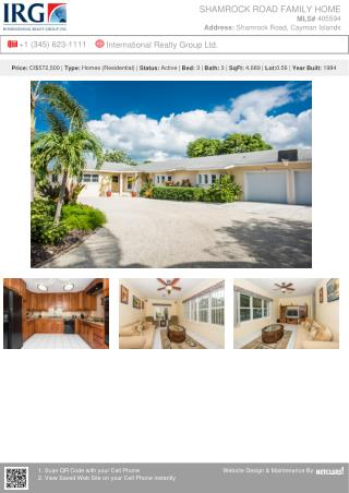 Shamrock road family home - Residential property from IRG Cayman
