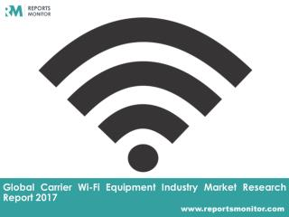 Carrier Wi-Fi Equipment Global Industry Analysis Report - Reports Monitor