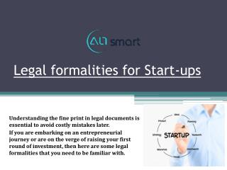 Legal Formalities for Startups