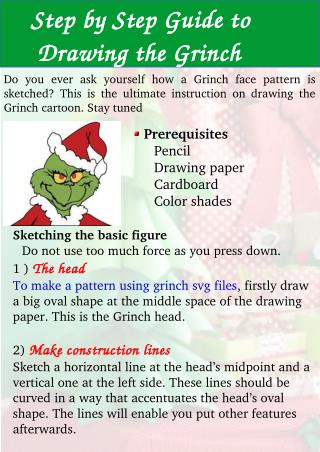 Step by Step Guide to Drawing the Grinch