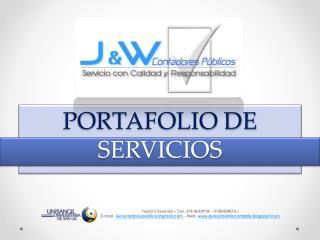 Portafolio de Servicios J&W Contadores Públicos