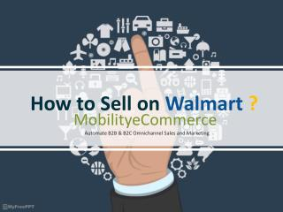 How to Sell on Walmart