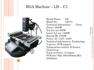 BGA Machines  - Automatic & Manual