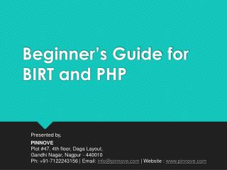Beginner's Guide for BIRT and PHP