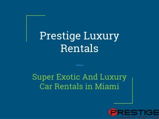 Find Best Exotic Cars to Rent in Miami