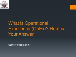 What is Operational Excellence (OpEx)? Here is Your Answer
