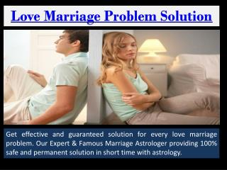 Love marriage problem solution specialist