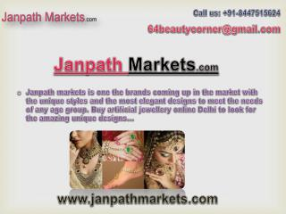Buy Artificial Jewellery Online India - janpathmarkets.com