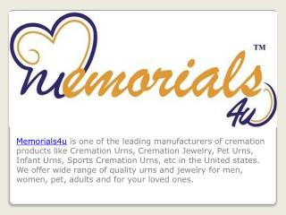 Cremation Urns, Cremation Jewelry, Sports Cremation Urns, Wooden Urns, Pet Urns - Memorials4u