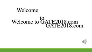 GATE 2018 Organising Institute