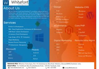 Joomla Web Development Services Company India - Whitefont Technologies