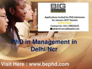 PhD in Management, Computer Science , Hindi , Social Science  in Delhi/Ncr
