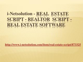 Real Estate Script - Realtor Script - Real Estate Software