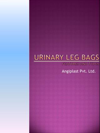 Types and Feature of Urine Leg Bag - Angiplast.com