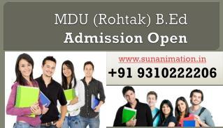 B.Ed admission 2017-19 | B.Ed Admission Open | B.Ed. MDU Rohtak