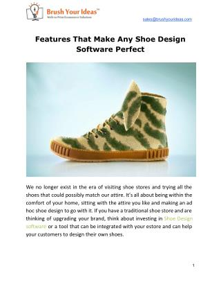 Features That Make Any Shoe Design Software Perfect