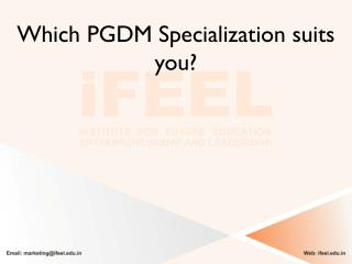 Which PGDM specialization suits you the most?