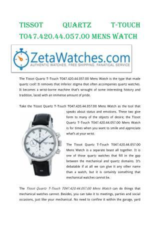 Tissot Quartz T-Touch T047.420.44.057.00 Mens Watch