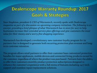 Dealerscope Warranty Roundup: 2017 Goals & Strategies