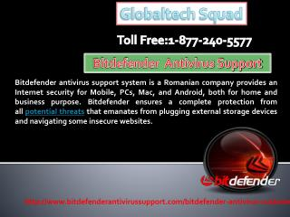 Bitdefender antivirus support Toll Free 1-877-240-5577