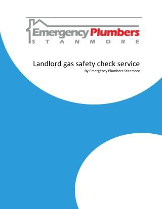 Landlord gas safety check service