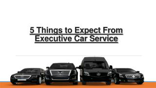 5 Things to Expect From Executive Car Service