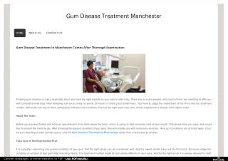 Find Best Gum Disease Treatment in Manchester