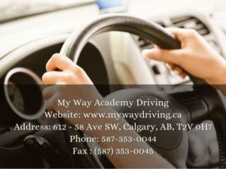 Driving School Calgary | Online Lessons Training & Classes | My Way Driving