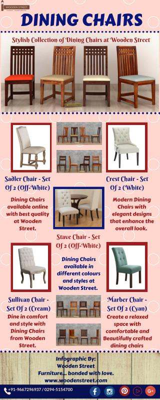 Dining Chairs : Buy Comforatable Dining Chairs Online - Wooden Street