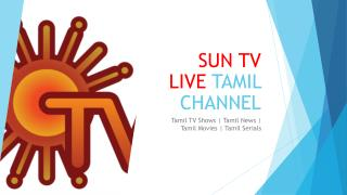 Sun TV Live HD Streaming Channel