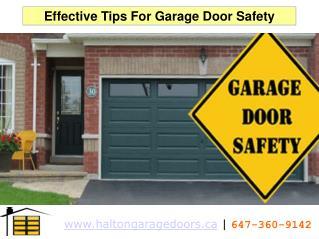 Effective Tips For Garage Door Safety