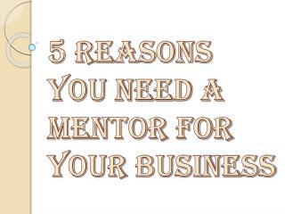 Why Need of a Mentor for Entrepreneurial Success?