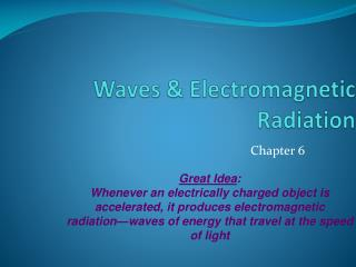 Waves & Electromagnetic Radiation