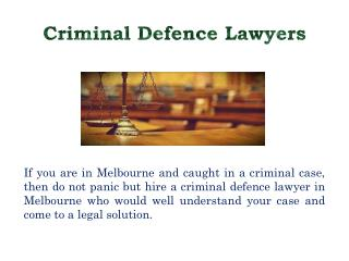 Are You Looking for Knowledgeable Lawyers in Melbourne?