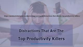 Distractions That Are The Top Productivity Killers