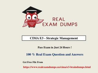 Cima E3 Exam Dumps With Verified Question Answers