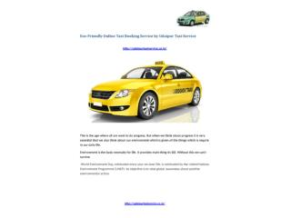 Eco-Friendly Online Taxi Booking Service by Udaipur Taxi Service