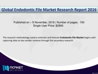 Endodontic File Market: rise in Industrialization in Asia Pacific to propel the demand during 2011-2021.