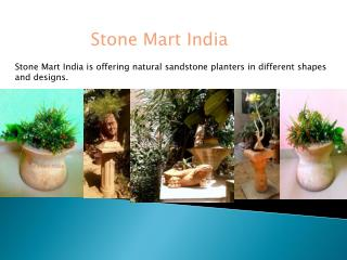 Natural sandstone planters for garden and home decor