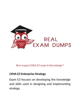 Best Cima E3 Exam Preparation Solutions For Guaranteed Success