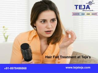 Anti Hair fall Treatment at Teja's