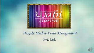 Live singer booking services in chandigarh call Punjabi Starlive