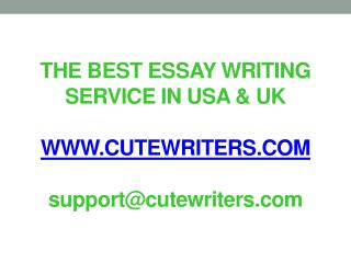 The Best Essay Writing Services in USA UK