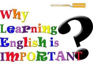 Why learning English is important